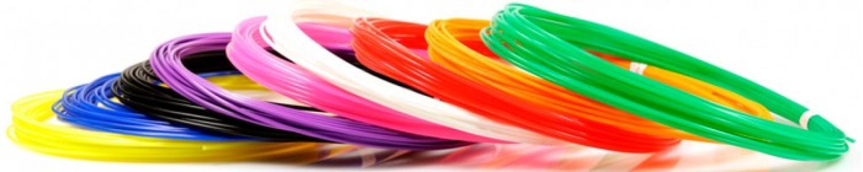 Комплект пластика PLA для 3Д ручек (9 цветов) Unid