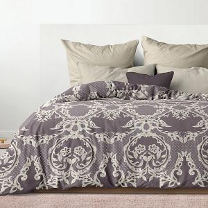 Комплект постельного белья  Баронесса, 2-спальное Романтика. Цвет: коричневый