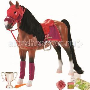 Лошадь 50 см с аксессуарами порода Американская Чистокровная Our Generation Dolls
