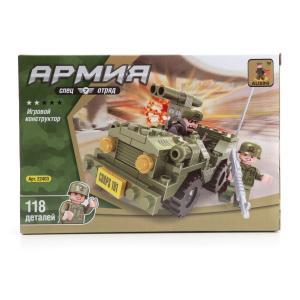, Конструктор пластиковый Военная машина с фигурками, 118дет. Ausini