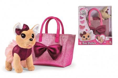 Мягкая игрушка  Плюшевая собачка с бантиком 20 см Chi-Chi Love