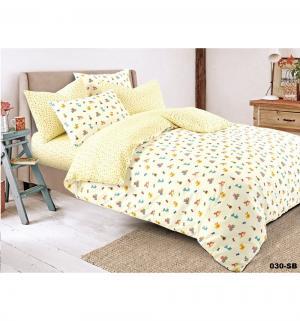 Комплект постельного белья , цвет: желтый 3 предмета Cleo