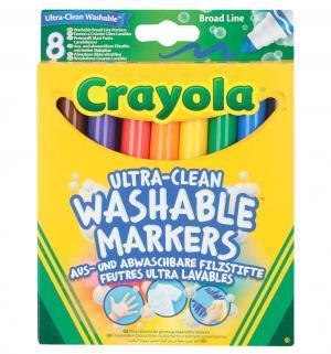 Фломастеры  смываемые Супер чисто 8 шт. Crayola