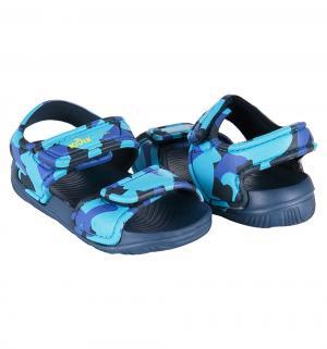 Сандалии пляжные , цвет: синий Kidix