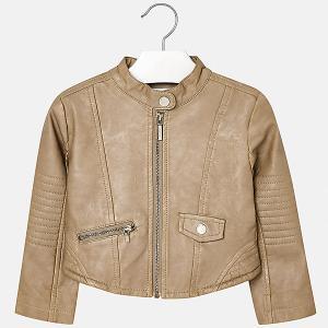 Кожаная куртка Mayoral. Цвет: бежевый