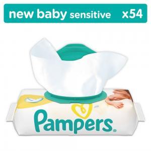 Влажные салфетки  Sensitive, 54 шт Pampers