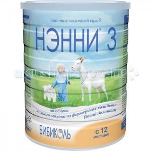 Нэнни 3 Молочная смесь на основе козьего молока от 1 года 800 г Бибиколь