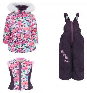 Комплект куртка/жилет/полукомбинезон  Лара, цвет: красный Alex Junis