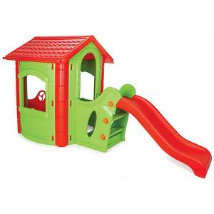 Игровой домик  Happy House Slide, зеленый/красный Pilsan. Цвет: grün/rot