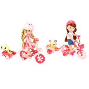 , Кукла Hello Kitty на велосипеде, с питомцем и аксесс., 15см Карапуз
