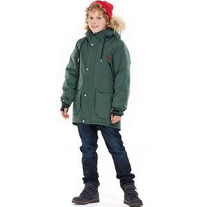 Утеплённая куртка Oldos Дориан. Цвет: зеленый