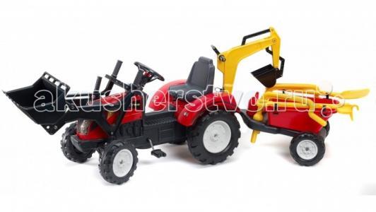 Трактор-экскаватор педальный с прицепом 220 см Falk