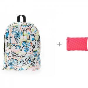 Рюкзак Цветы с пеналом-сумочкой Zipit Neon Jumbo Pouch 3D Bags
