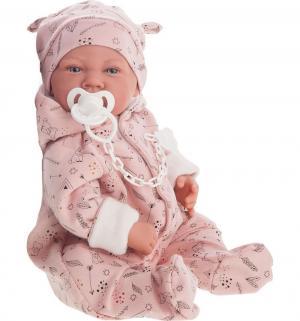 Кукла-младенец  Алехандра в розовом 40 см Juan Antonio
