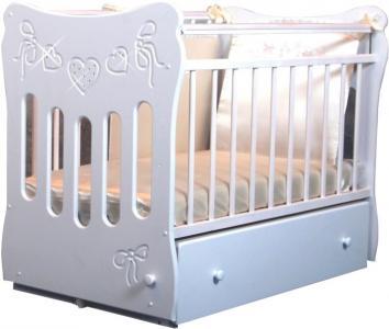 Детская кроватка  Бантики маятник поперечный Островок уюта