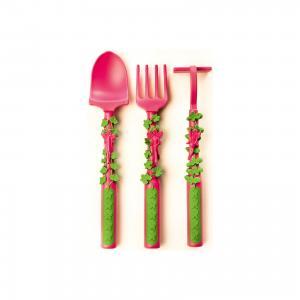 Набор из трех столовых приборов Серия Волшебный сад, Constructive Eating, розовый eating