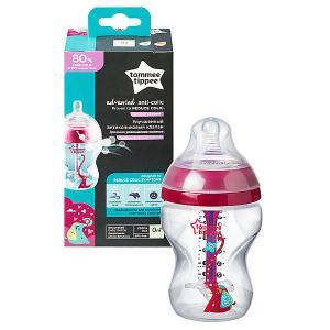 Бутылочка для кормления  Advanced с усиленным антиколиковым клапаном и индикатором температуры, 260 мл., р Tommee Tippee. Цвет: разноцветный