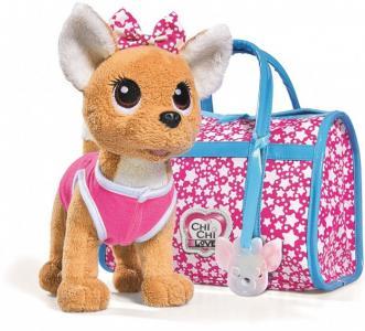 Мягкая игрушка  собачка Звездный стиль с сумочкой 20 см Chi-Chi Love