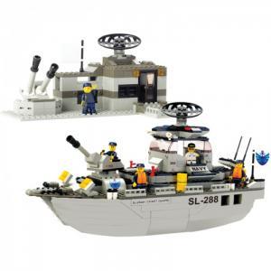 Конструктор  BOX Военный корабль Navy M38-B0122R (449 элементов) Sluban