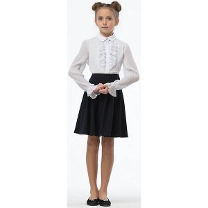 Блузка для девочки Смена. Цвет: белый