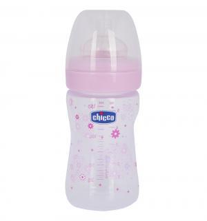 Бутылочка  Wellbeing Girl полипропилен с рождения, 150 мл, цвет: розовый Chicco