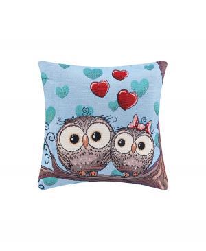 Декоративная подушка Влюбленные совы El Casa