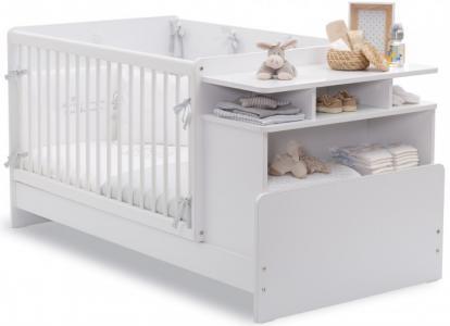Кроватка-трансформер  с полками Baby Cotton 110х70/140х70 см Cilek