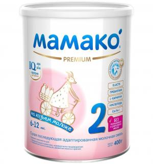 Молочная смесь  Premium на основе козьего молока 6-12 месяцев, 400 г Мамако