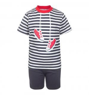 Комплект футболка/шорты , цвет: т.синий M&D