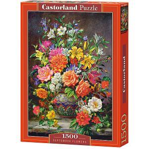 Пазл  Сентябрьские цветы 1500 деталей Castorland