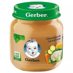 Пюре  овощной салатик с 5 месяцев, 130 г Gerber