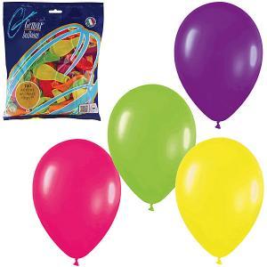 Воздушные шары 7 Веселая затея 100 шт, 18 см (12 цветов неон)