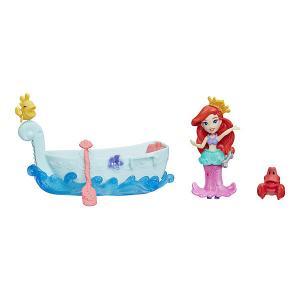 Игровой набор с мини-куклой Disney Princess Маленькое королевство Ариэль и лодка Hasbro