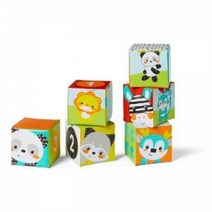 Мягкие кубики для ванны Цвета и числа Infantino