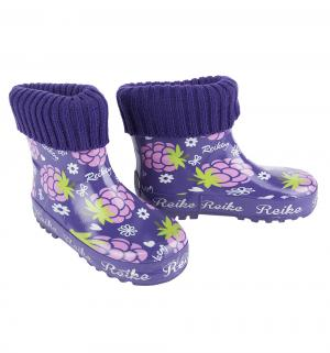 Резиновые сапоги  Ежевика, цвет: фиолетовый Reike