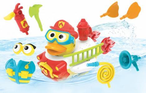 Игрушка водная Утка-пожарный с водометом и аксессуарами Yookidoo