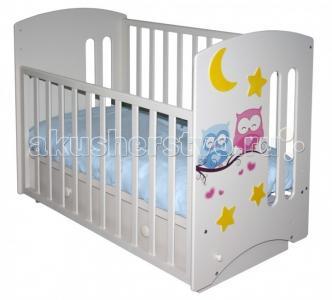 Детская кроватка  Laluca Софи Совята поперечный маятник Можгинский лесокомбинат