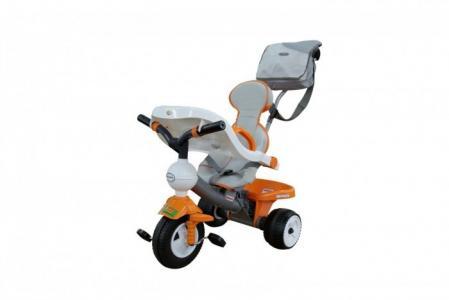 Велосипед трехколесный  Дидактик с игровой панелью, чехлом и сумкой (колеса пластмассовые) Coloma