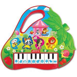 Музыкальная игрушка  Пианино Клубничка Азбукварик. Цвет: разноцветный