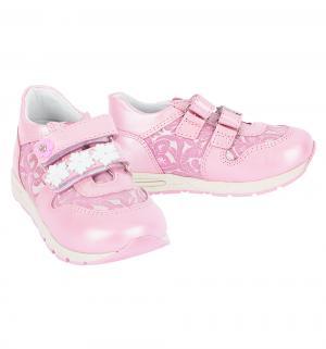 Полуботинки , цвет: розовый Dandino