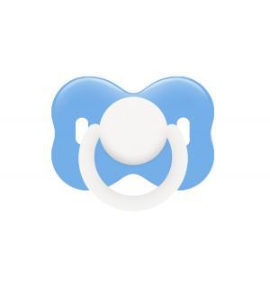 Пустышка  круглая силикон, с рождения, цвет: голубой Lubby