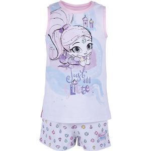 Пижама  для девочки Button Blue. Цвет: розовый