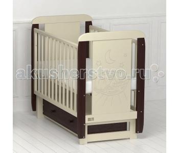 Детская кроватка Kitelli Micio поперечный маятник (Kito)