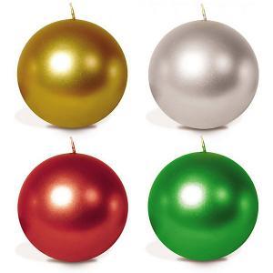 Свеча-шар  4 шт, 5 см, металлик B&H. Цвет: разноцветный