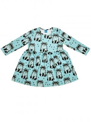 Платье  Еноты, цвет: бирюзовый The hip!