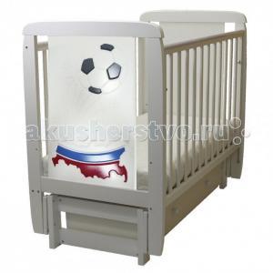 Детская кроватка  04 Триколор с ящиком (поперечный маятник) Соня
