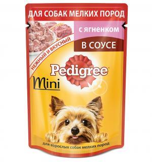 Влажный корм для взрослых собак мелких пород  Mini с ягненком в соусе, 85 гр Pedigree