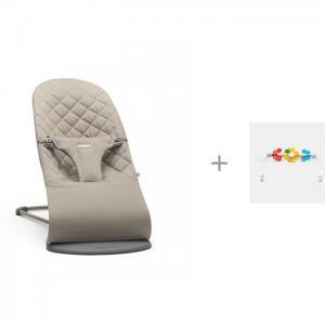 Кресло-шезлонг Bliss Cotton и Игрушка для кресла шезлонга Летающие друзья BabyBjorn