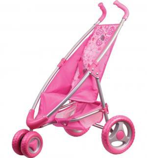 Коляска для кукол  прогулочная розовая 52.5 см Gulliver