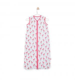 Конверт Tropical 70 см, цвет: белый/розовый Jollein